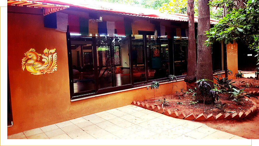 Out side view of Sri Krishna Wellness Yoga hall