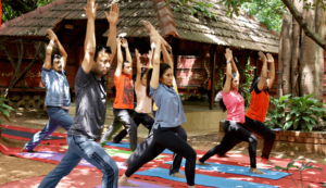 Students Performing Yoga Asana